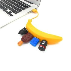 Banana 4-Port USB Hub