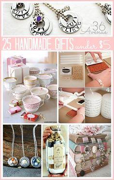 25 Handmade Gifts Under $5 | DIY Home Sweet Home