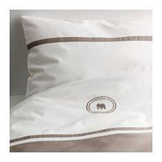 CHARMTROLL Sengesett til sprinkelseng, beige, hvit - beige/hvit - IKEA