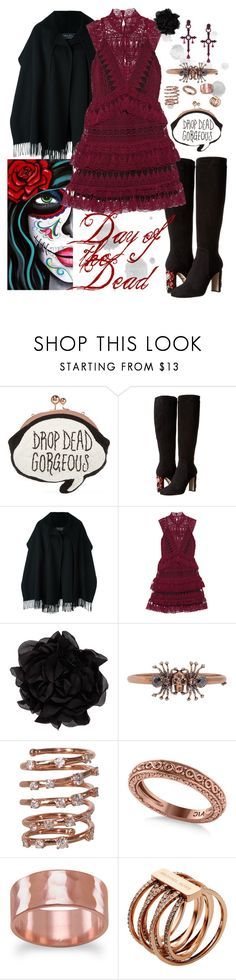 """Day of the Dead"" by tulips04 ❤ liked on Polyvore featuring Sophia Webster, Dolce&Gabbana, Salvatore Ferragamo, self-portrait, Lanvin, Alexander McQueen, Plukka, Allurez, BillyTheTree and Michael Kors"