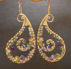 Luxe Bijoux 176 Hammered Paisley Earrings by CalicoJunoJewelry