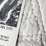 Hand-Stitched New York City Grid Quilt