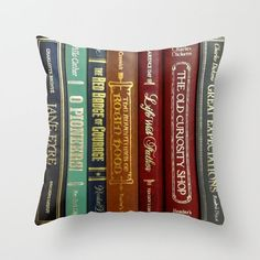 Literature Throw Pillow #literarygifts WritersRelief.com