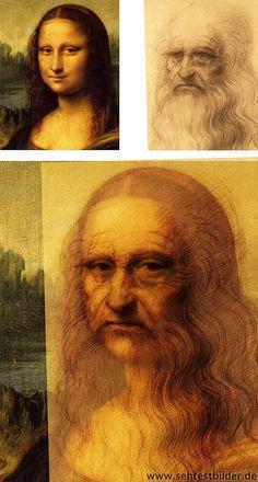 Old Mona Lisa - Bildmontage mit Selbstportrait von Leonardo da Vinci #monalisa