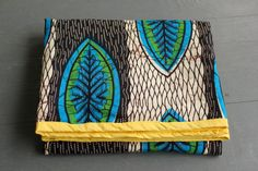 Amazing colors! African Wax Block Blanket Blue green and black by LifeStitchedTogether