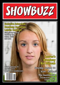 Broadway Showbuzz Magazine Cover Invitation / For the star of the show! Party411.com