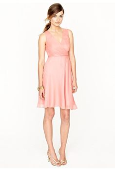 Jcrew Evie Dress in Silk Chiffon