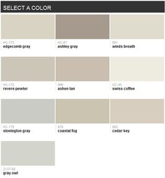 Best-selling grays (Benjamin Moore)
