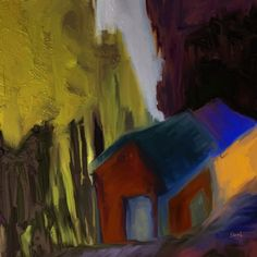 Mountain Lodge by Shesh Tantry in Landscapes-series on Art by Shesh Store