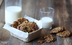 These lovely cookies are packed with so many good things that you can eat them for breakfast with a piece of fruit and a glass of milk with little guilt. Think of them as a cookie version of granola!