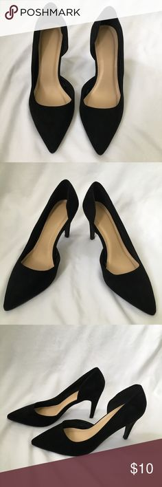"""Forever 21 Black D'orsay Kitten Heels Pumps 6.5 Like new condition ~ Suede like pumps with side cut out ~ Forever 21 ~ size 6.5 ~ 3"""" heels. Forever 21 Shoes Heels"""
