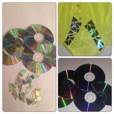 Utiliza CD que ya no uses para crear un estilo muy creativo en tus camisas...