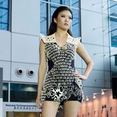 Check out this entry to the 2013 Singapore International Fashion 3D Printing Competition  #3Dprinting #Fashion #Dress