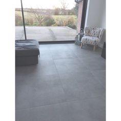Dunsen Grey Anti Slip Floor Tile - Floor Tiles from Tile Mountain Grey Floor Tiles, Bathroom Floor Tiles, Grey Flooring, Flooring Ideas, Wood Floor, Wood Plank Tile, Concrete Tiles, Living Room Flooring, Kitchen Flooring