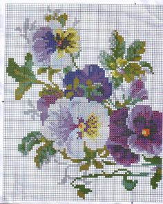 55 Flower Graphics in Cross Stitch – Gr Cross Stitch Love, Cross Stitch Pictures, Cross Stitch Borders, Cross Stitch Flowers, Cross Stitch Designs, Cross Stitching, Cross Stitch Embroidery, Embroidery Patterns, Cross Stitch Patterns