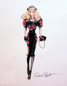 (••)                                                                       ☆Fiorella Barbie sketch by Robert Best