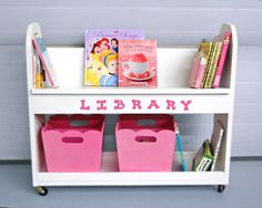 Ana White | Build a Library Book Cart | Free and Easy DIY Project and Furniture Plans
