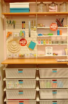 #ContainerStore craft area