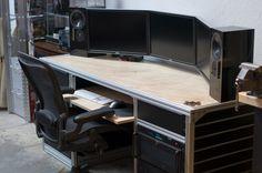 Three Monitor Home Office Computer Setup