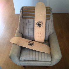 """SIPI """"f$%k it let's go bowling"""" BOWLER SHAPES chilling in da lazy boy!!! TODAY @statebcn SIPI CONCRETE SHREDDERS UNVEILING PARTY: boards will be on display the whole day official event from 7:00pm to 9:00pm. #sipigoods #craftedbyhand #skateboards #madelocal #bcn #rideableart #artofradical #skateboarding #skate #skateallday #streetsurfing #surf #art #arte #illustration #design #fabrication #woodworking #statebcn #supportyourlocals #rockhallbeer #beer #craftbeer #goodvibes #goodtimes…"""