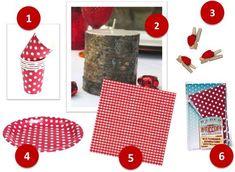 Décoration de table - Idées rouges & blanches