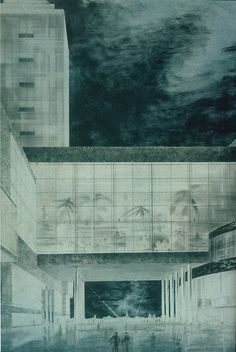 Vesnin brothers, Palace of the Soviets detail (1932) by rosswolfe1, via Flickr