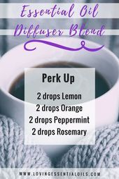 Essential Oil Diffuser Blend - Perk Up by Loving Essential Oils Essential Oil Diffuser Blends, Doterra Essential Oils, Doterra Diffuser, Doterra Oil, Yl Oils, Aroma Diffuser, Julie Feels Good, Diffuser Recipes, Allergies