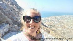 Faces de Marisa: SANTORINI, UMA VIAGEM DE SONHO Santorini, Sunglasses, Travel, Dreams, Sunnies, Shades, Santorini Caldera, Eyeglasses, Glasses