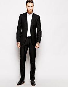 Sisley Slim Fit Suit In Black