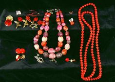 Vintage Raspberry Red Ruby Jewelry Collection  by DivineOrders, $12.00