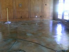 Stained Concrete Floors: Easy Upgrade | thefixchicks.com