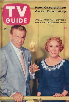 George Burns and Gracie Allen  October 8-14 1955