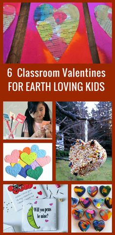 6 Eco-friendly classroom valentines for kids + free printable. Tired of the waste that comes with Valentine's Day? Help your children give out zero waste (no candy) valentines that are sure to be a big hit with their classmates!!