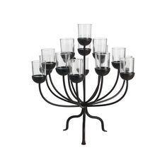 Candles & Holders gifts, Ornaments gifts, Lanterns gifts, Home Living gifts | Indoor Living theme gifts, Home theme gifts | SIA brand gifts - Candle Abra T/Light Holder by Sia.H51 D44 Black