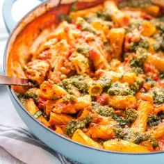 A cheesy no boil vegetarian pasta bake the whole family will love, with tortiglioni pasta and lentils that bake into a creamy tomato and mozzarella sauce. Veggie Dishes, Pasta Dishes, Veggie Recipes Lentils, Veggie Meals, Veggie Food, Tasty Vegetarian Recipes, Healthy Recipes, Vegetarian Pasta Bake, Veggie Bake