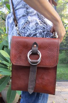 Leather iPad tablet messenger  sleeve  cover bag by PEOPLESLEATHER, $100.00