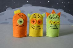 Counting Monster Finger Puppets by raindropstops on Etsy