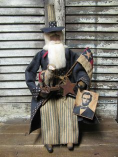 Olde Uncle Sam by Folk Artist Sue Corlett. New items added every Sunday on my selling blog!