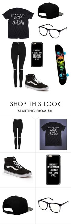 """Untitled #115"" by darksoul7 on Polyvore featuring Topshop, Vans, Casetify, '47 Brand and H&M"