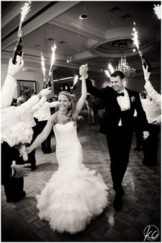 NJ Wedding Photographer | Eagle Oaks Country Club | Farmingdale NJ | Kate Connolly Photography | www.kateconnollyblog.com | grand entrance | bride | groom | sparklers | reception