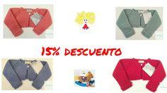 Chaqueta de punto de niña con 15 % DESCUENTO en www.latitaloca.com  Envios gratis