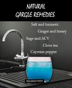 Top Five natural gargle recipes and tips for sore throat