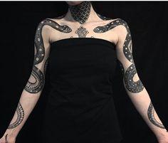 Pietro Sedda snake tattoo
