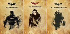 Awesome Fan-Made Posters For 'Batman Begins', 'The Dark Knight' & 'The Dark Knight Rises'