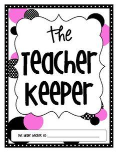 The Teacher Keeper {Organizational Binder in Pink & Black Polka Dots}