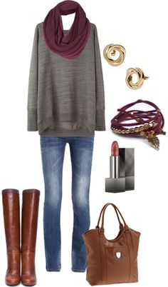 gray and cranberry