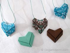 How to Make an Origami Heart in Less Than 5 Minutes crafts diy Easy Origami Heart, Instruções Origami, Origami And Kirigami, Origami Fish, Origami Jewelry, How To Make Origami, Origami Folding, Paper Crafts Origami, Useful Origami