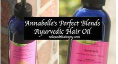 Annabelle's Perfect Blends Ayurvedic Hair Oil Review by relaxedthairapy. Excellent oil to address dryness, breakage and hair shedding.
