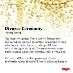 """Divorce Ceremony"" by Gary Leising #poem #poetry"