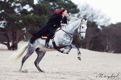 Riding into battle... Me with my PRE Titan, this horse is the best! Insta: nouk.balthazar Facebook: Anouk Korporaal